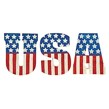 USA Glitter Yard Signs