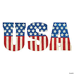 """USA"" Glitter Yard Signs"