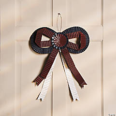 Patriotic Corrugated Ribbon Door Bow