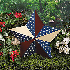 Patriotic Barn Star Yard Stake