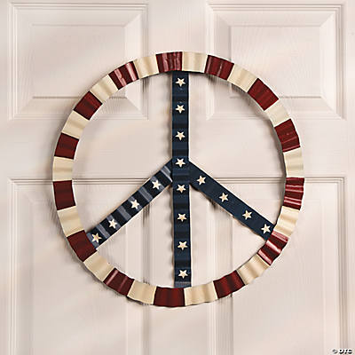 Patriotic Peace Sign Wall D Cor Oriental Trading
