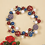 Patriotic Glitter Wreath