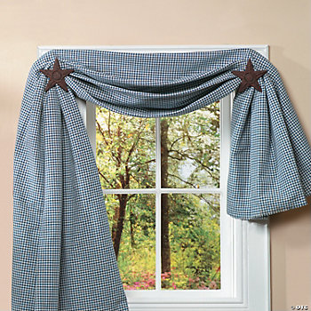 Americana Star Curtain Holders