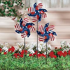 Patriotic Pinwheel Yard Stakes