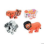 12 Movable Animal Erasers