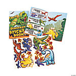 12 Dinosaur Sticker Books