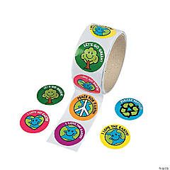 Save The Earth Roll Stickers