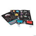 3D Space Sticker Books