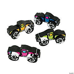 Monster Truck Movable Erasers