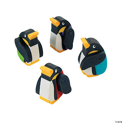 Penguin Movable Erasers