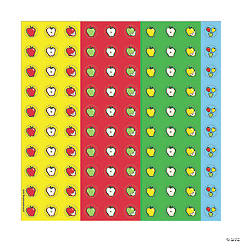 800 Apples Mini Stickers