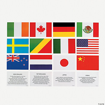 Jumbo Multicultural Flag Sticker Sheets