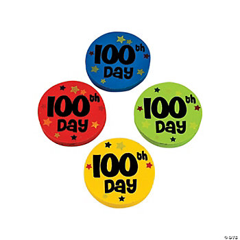 """100th Day of School"" Erasers"