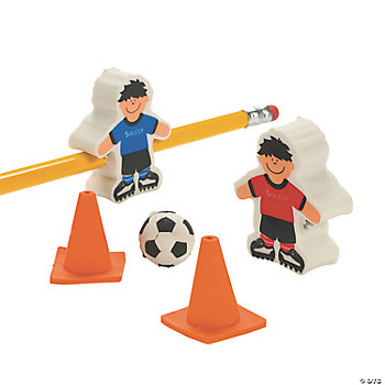 Soccer Ball & Player Erasers