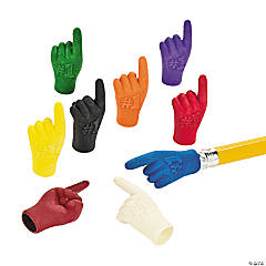 """#1"" Hand Pencil Top Erasers"