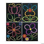 Sticker Dot Art - Spring Flowers