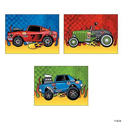 Race Car Sticker Scenes