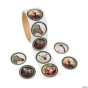 Wildlife Roll Stickers