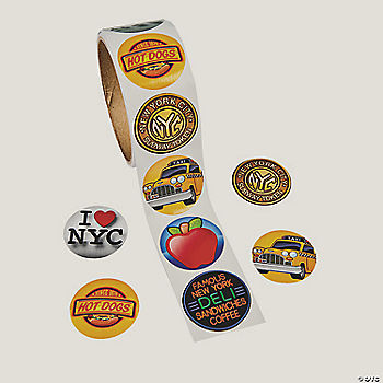 New York Stickers Oriental Trading Discontinued