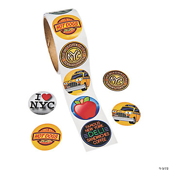 New York Roll Stickers