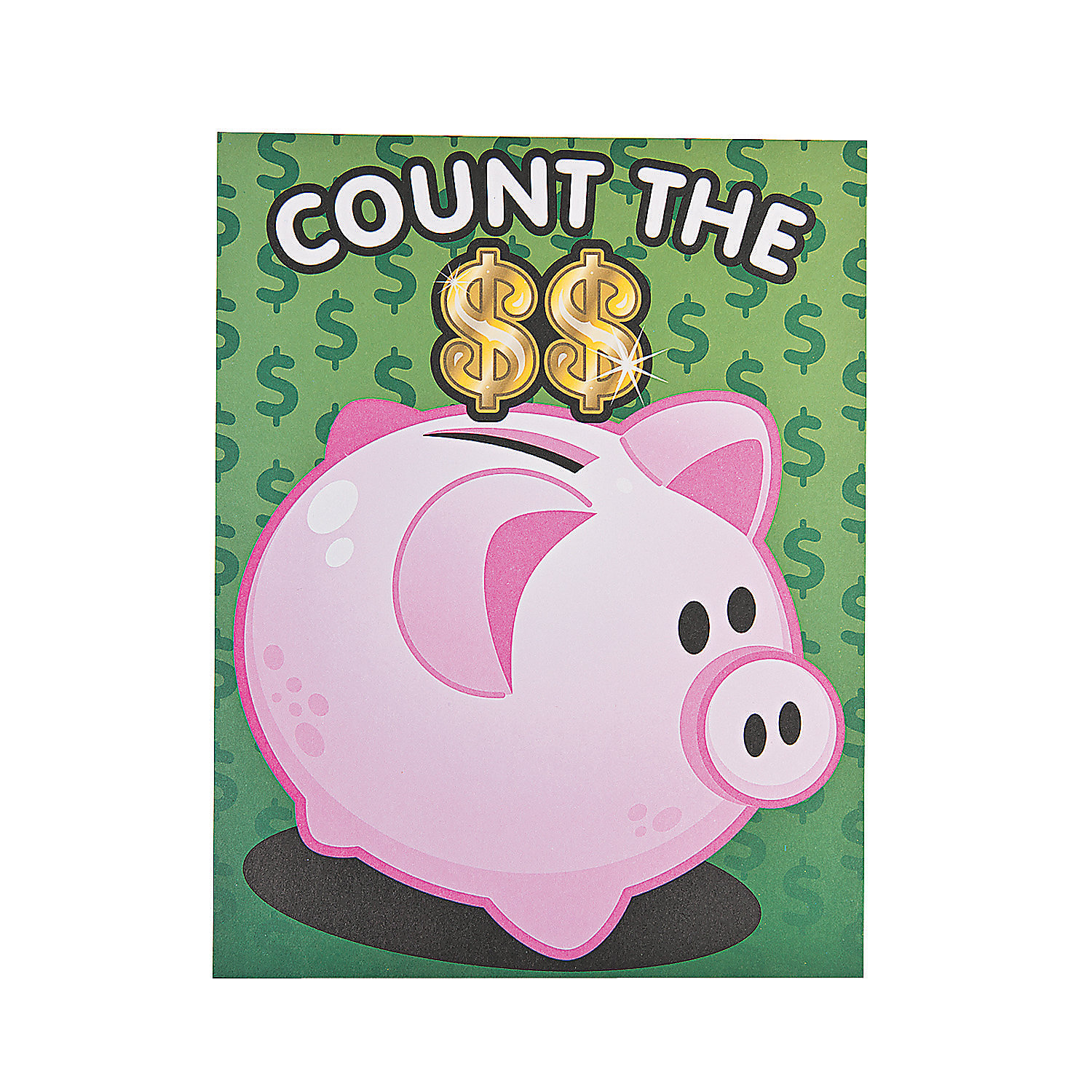 12 money counting piggy bank sticker scenes oriental trading discontinued - Counting piggy bank ...