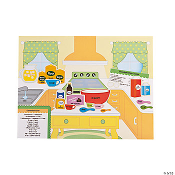 12 Kitchen Measurements Make-A-Sticker Scenes