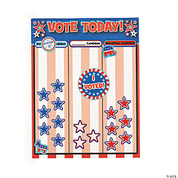 12 Voting/Election Graph Make-A-Sticker Scenes