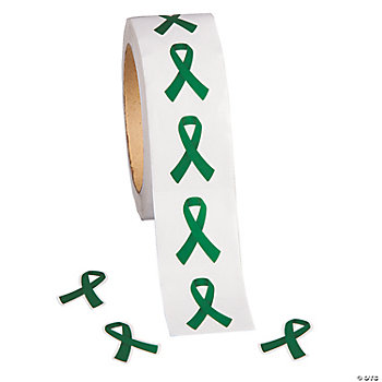 Green Awareness Ribbon Stickers