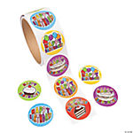 Birthday Roll of Stickers