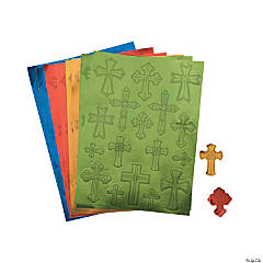Foil Cross Sticker Sheets