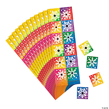 Snowflake Prismatic Sticker Sheets With Gems