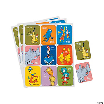 36 Dr. Seuss™ Character Stickers