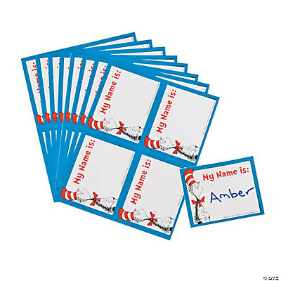 40 Dr. Seuss™ the Cat in the Hat Name Tags