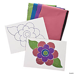 Flower Stickers & Foil Activites