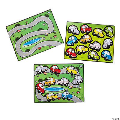 Race Track Sticker Scenes