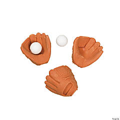 Baseball Glove & Ball Erasers