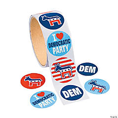 Democrat Roll Stickers