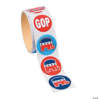 Republican Roll Stickers