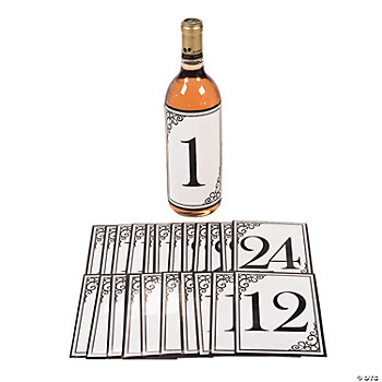 Bottle Label Table Number Stickers