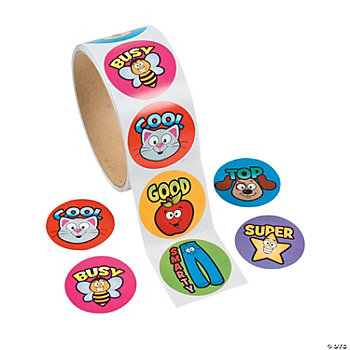 Motivational Picture Word Roll Stickers