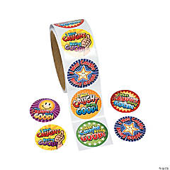 """I Was Caught Being Good!"" Roll of Stickers"