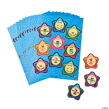 24 Star Award Sticker Sheets