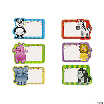 Zoo animal name tags labels oriental trading