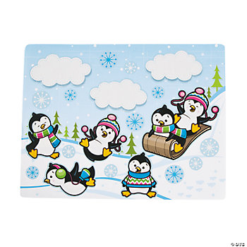 Make-A-Penguin Sticker Scenes