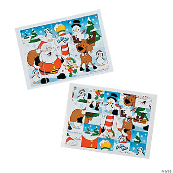 Holiday Sticker Scramble Games