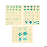 Clear Snowflake Sticker Sheets
