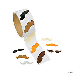 Mustache Roll of Stickers