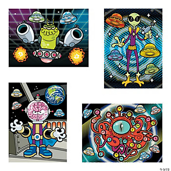 Make-An-Alien Sticker Scenes