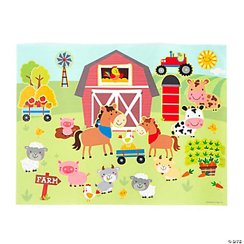 Make-A-Farm Sticker Scenes