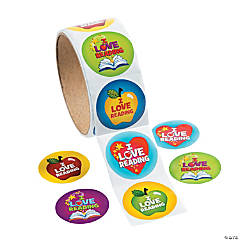 """I Love Reading"" Roll of Stickers"